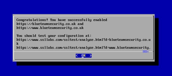 Lets Encrypt! Congratulations