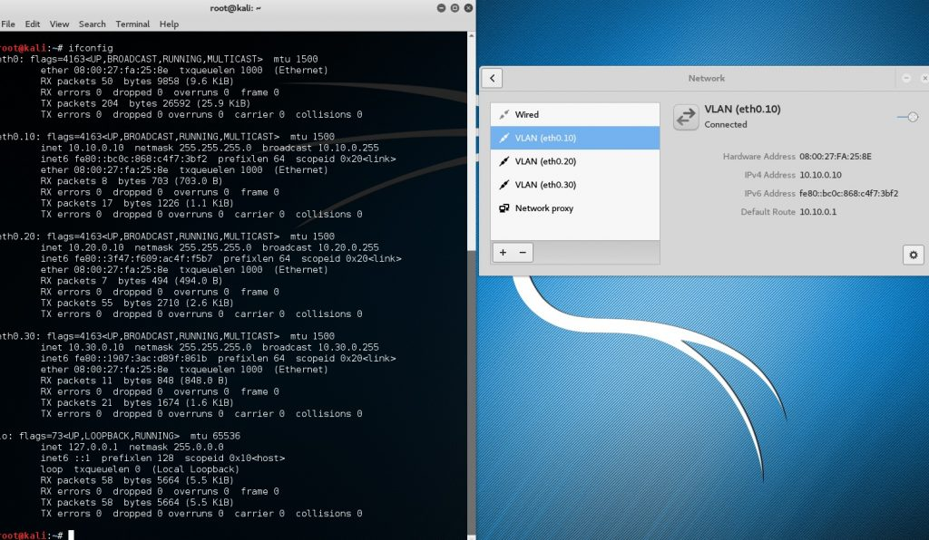 VLAN tagging in Kali Linux 2 0 - Connecting to Trunked Ports!