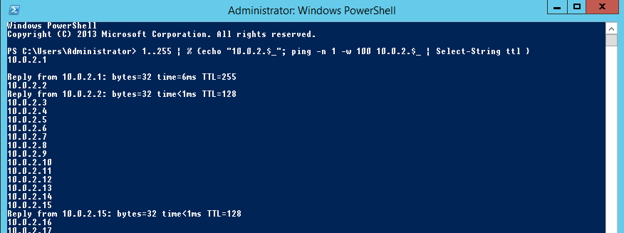 PowerShell Ping Sweep