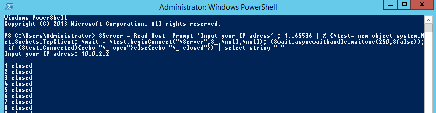 PowerShell Port Scan