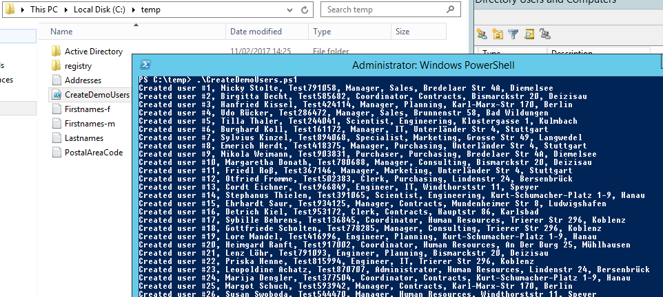 Creating realistic test user accounts in Active Directory 2
